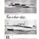 "1949 Ed Smith Ad- Nice Photo of Hydroplane ""Miss Great Lakes"" & Consolidated Yacht"