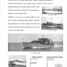 1949 Burger Boat Co Ad- Photos of 4 Models