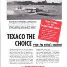 "1949 Texaco Marine Ad- Nice Photo of Hydroplane ""Miss Great Lakes"""