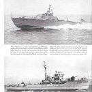 1944 WW II Dooley & Burger War Ships Ad-Great Photos of PCS 1423 & P- 360