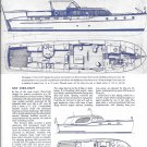 1945 Chris- Craft 36' Double Stateroom Cruiser Boat Review- Drawings