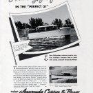 1941 Anaconda Copper Ad- Nice Photo of Richardson Perfect 31 Yacht &37'