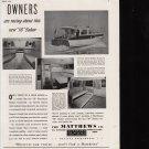 "1941 Matthews 38' Sedan Yacht Ad- Nice Photos of the ""Whitecap"""