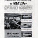 1941 Richardson Boat Co Ad- Photos of 3 Models- 33-26-31