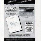 "1941 Molded Weldwood Boats Ad- Photo of Hacker ""Thunderbird"""