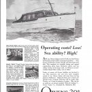 1944 Owens 30' Cruiser Boat Ad- Nice Drawing