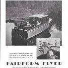 1944 Huckins Fairform Flyer Yacht Ad- Great Photo