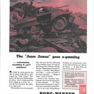 "1944 WW II Borg- Warner Ad- Drawing of ""Jesse James"" M8 Tank"
