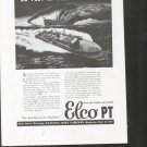 1943 WW II Electric Boat Co Ad- Nice Drawing of PT Boat in Action
