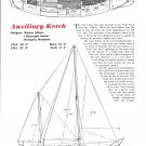 1964 Thomas Gillmer 44' Auxiliary Ketch Ad- Specs & Drawing