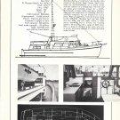 1972 Eagle 40' Trawler Yacht Ad- Specs- Photos & Drawing