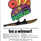 1973 Maherajah Water Skies Color Ad- Nice Photo