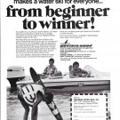 1973 Western Wood Water Skies Ad- Nice Photo of Boat With Johnson Outboard