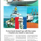 1972 Evinrude 125 HP. Outboard Motor Color Ad- Nice Photo of Donzi Boat