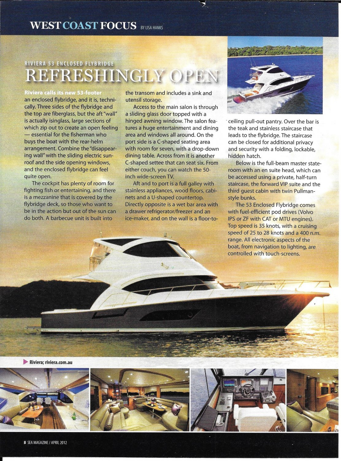 2012 Riviers 53 Enclosed Flybridge Yacht Review- Photos