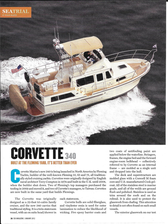 2012 Corvette 340 Yacht Review- Nice Photos & Boat Specs