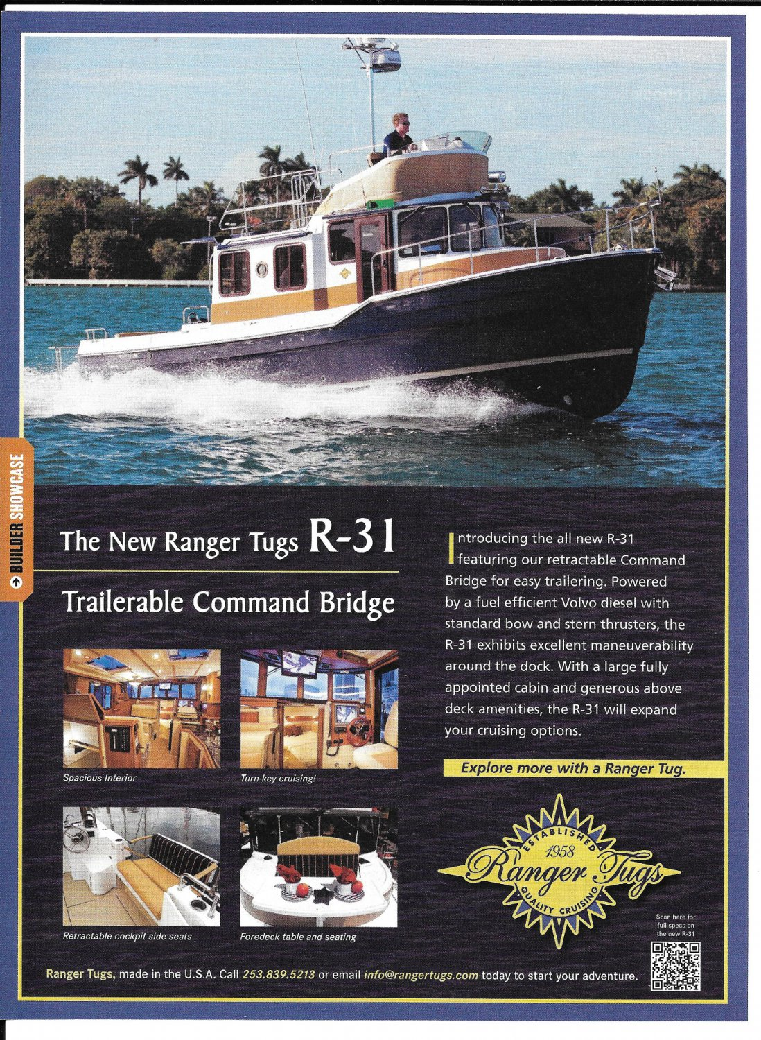 2012 Ranger Tugs R-31 Color Ad- Nice Photo