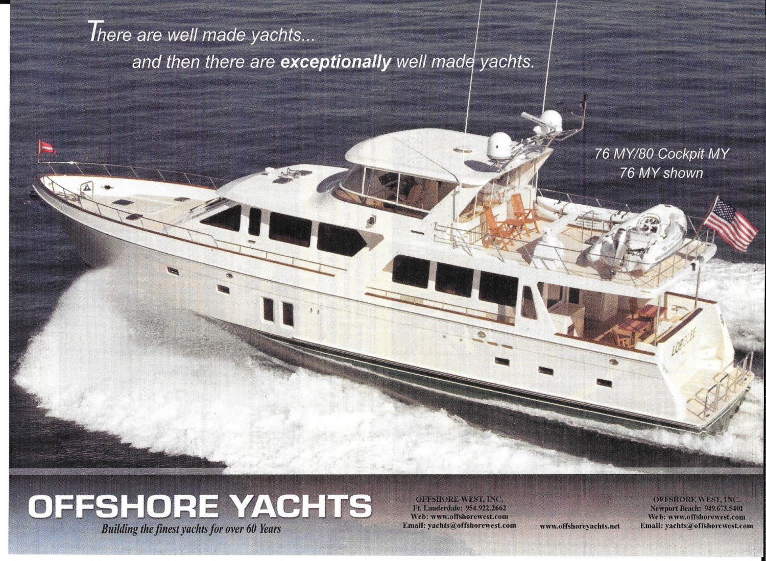 2012 Offshore Yachts 76 MY Color Ad- Nice Photo