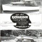 Old 1950 Richardson Boat Co. Ad- Nice Photo of 31 Models