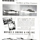 Old 1940 Grebe Yachts Ad Photos of 5 Models