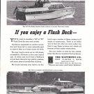 1962 Matthews 42 Fly Bridge Double Cabin Yacht Ad- Nice Photo- Also 53' Model