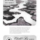 1953 Chubb Insurance Ad- Great Photo Sassafras River From Chesapeake Bay