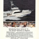 1986 Ocean Yachts Color Ad- Nice Photo of 63' SS