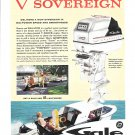 1960Gale V Sovereign 60 HP Outboard Motor Color Ad- Nice Photos