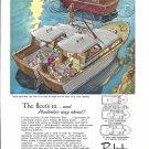 1962 Pembroke Boats Color Ad- Drawing of 24'- 28 & 33 Models