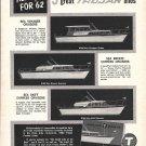 1962 Trojan Boat Co Ad- Drawings of 3 Models