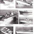 1961 New Boats Ad-Century-Thompson-Glen L-Clinker-Skee- Sea Mac-Cuttyhunk-Nice Photos
