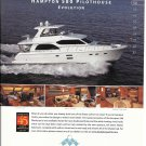 2010 Hampton 580 Pilothouse Evolution Yacht Color Ad- Nice Photos
