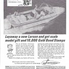 1965 Larson Volero Deep Vee 16' Boat Ad- Nice Photo