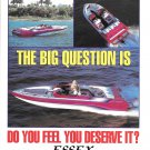 1992 Essex Performance Boats Color Ad- Nice Photos