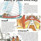 1970 C & C 24 Yacht Color Ad- Nice Drawings