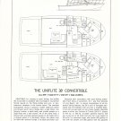 1976 Uniflite 38' Convertible Yacht Ad- Boat Specs & Drawing