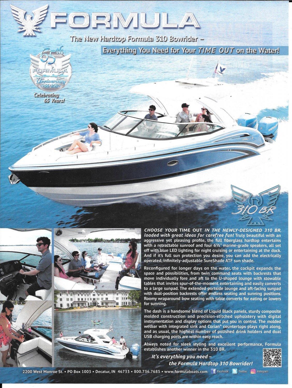 2021 Formula 310 BR Boat Color Ad- Nice Photo