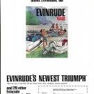 1968 Evinrude Triumph 55 HP Outboard Motor Color Ad- Nice Photo
