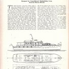 1951 Consolidated Shipbuilding Corp 85' Motor Yacht Ad- Drawing