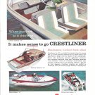 1961 Crestliner Boats Color Ad- Photo of Falcon 14- Flying Crest 17- Imperial 17
