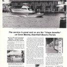 Old Phillips 66 Ad- Nice Photo of Cove Marina, Deerfield Beach, Florida