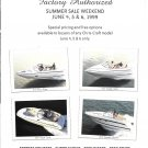 1999 Chris- Craft Boats 2 Page Color Ad- Photos of 4 Models