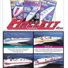 1998 Hallett Boats Color Ad- Photos of 4 Models