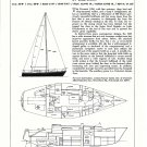1974 Pearson 10- Meter Yacht Ad- Drawings & Boat Specs