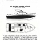 1974 Wellcraft Marine Nova 25' Express CruiserBoat Review- Drawing & Boat Specs