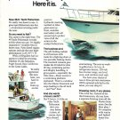 1974 Hatteras 48' Yacht Fisherman Boat 2 Page Color Ad- Nice Photos