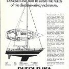 1974 Dufour USA 34 Yacht Ad- Drawing & Boat Specs