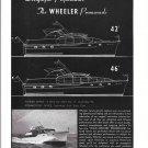 1953 Wheeler Shipyard Co Ad- Model 42 & 46- Photo & Drawing