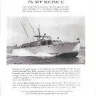 1953 Huckings Oceanic 52 Fairform Flyer Yacht Ad- Nice Photo