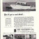 1963 Matthews 42' Convertible Sedan yacht Ad- Nice Photos